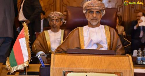 The Sultanate's delegation was led by Dr. Ali bin Ahmed al-Issa'ee, the Sultanate's Ambassador to Egypt, its Permanent Representative to the Arab League. Photo: ONA