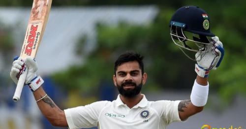 Virat Kohli hit his 17th Test century in India's second innings