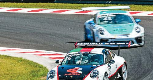 Al Faisal al Zubair in action at the Hungaroring circuit in Budapes