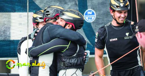 The Oman Air team have taken the overall lead of the Extreme Sailing Series after clinching victory at the latest Hamburg event on a dramatic final day of racing.