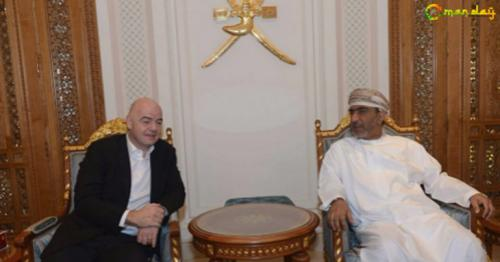 FIFA president Gianni Infantino arrives in Muscat