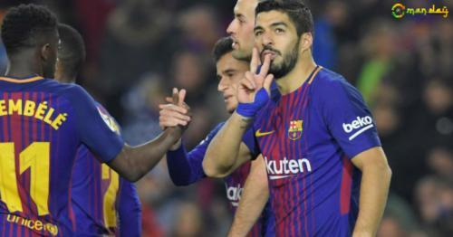 Suarez hat-trick extends Barca's La Liga lead