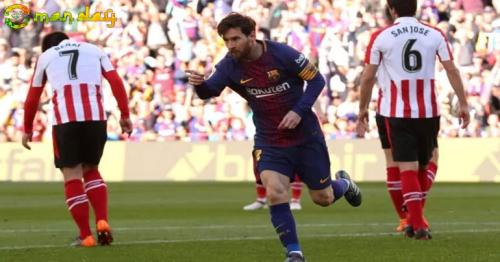 Football: Messi on target again as Barca blank Athletic