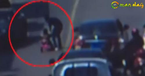 Cars Swerve To Avoid 3-Year-Old Who Rode Tricycle Onto Busy Road. Watch