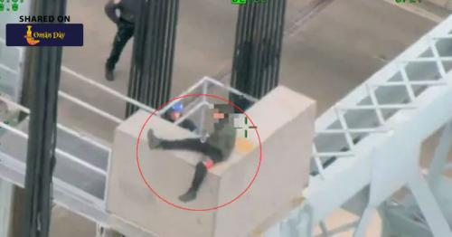 Watch: Dramatic Moment Cop Saved A Suicidal Man About To Jump From Bridge