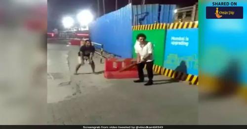 Watch:Sachin Tendulkar plays cricket with fans on a Mumbai street