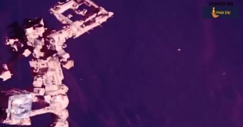 Is than a UFO? Alien buffs spot UFO near ISS