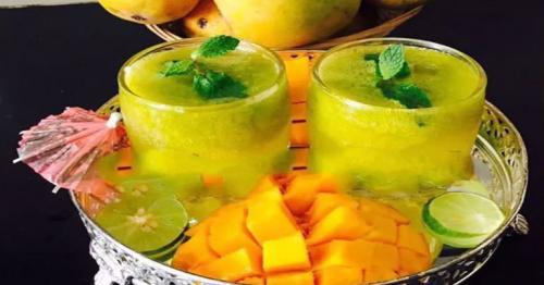Fresh mango mint lemonade is a perfect refreshing drink for Ramadan