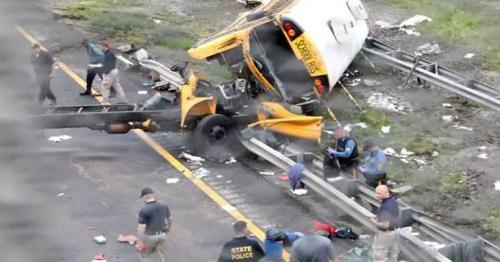 A New Jersey school bus accident has left 2 dead, 43 injured
