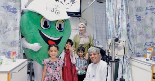 Haya Water, Campaigns, Hospitals