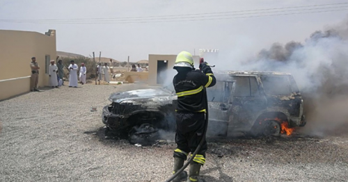 vehicle fires,Oman,Public Authority for Civil Defence and Ambulance