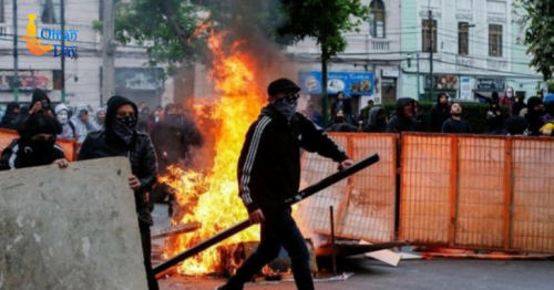 Violent anti-government protests break out in Chile