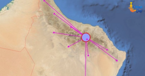 Earthquake reported in Oman