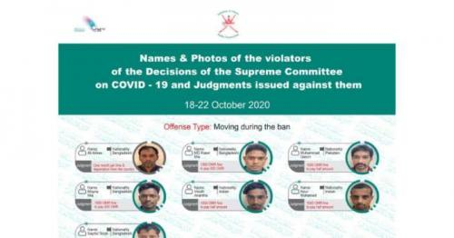 Violators of COVID-19 precautions punished, photos released