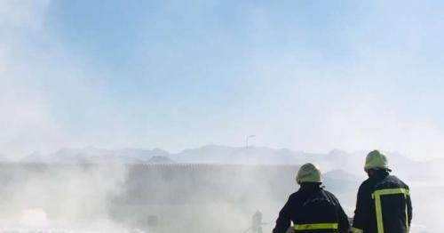 Fire breaks out in a factory in Wilayat Samail