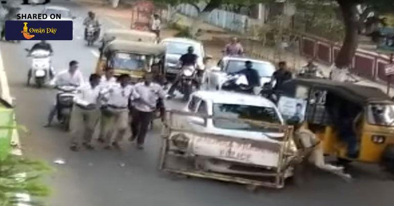 Watch: 'Drunk' Driver Runs Over Cop Who Tried To Stop Him In Andhra Pradesh
