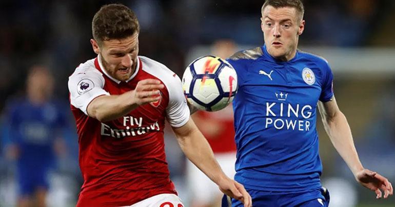 Football: Jamie Vardy strikes as Leicester beat 10-man Arsenal