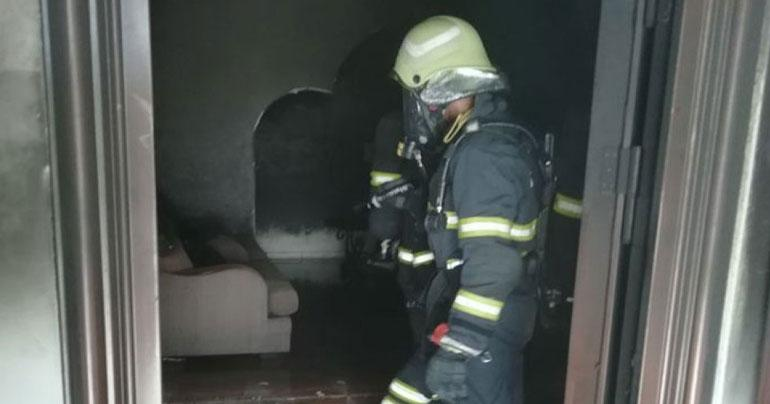 Four houses in Oman went up in flames