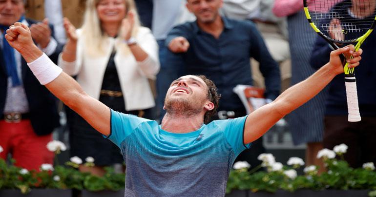 French Open: Marco Cecchinato stuns Novak Djokovic