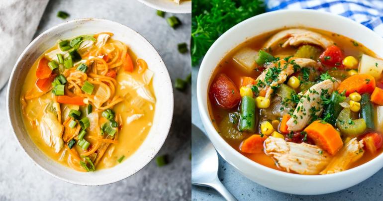 Soup, Recipe, chicken soup, healthy soup, summer diet,