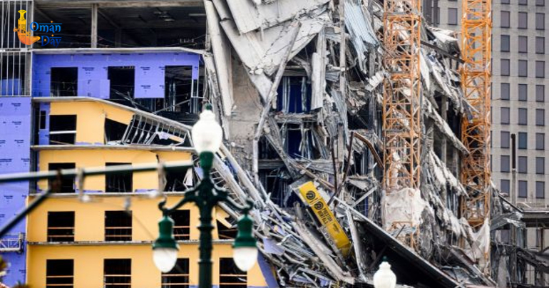 One killed, 18 injured in New Orleans hotel collapse