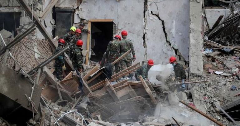 Seven dead, over 30 injured as rocket destroys building in Azerbaijan's Ganja