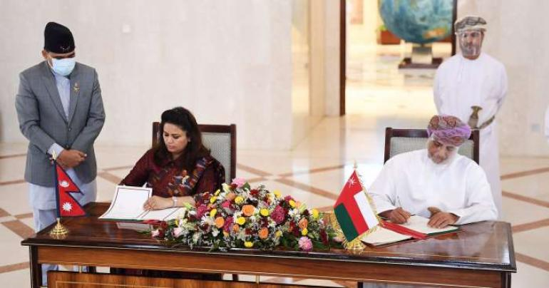 Oman signs visa-exemption agreement with Nepal